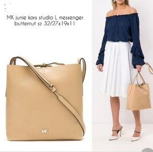 NEW MK Junie Large Messenger Bag